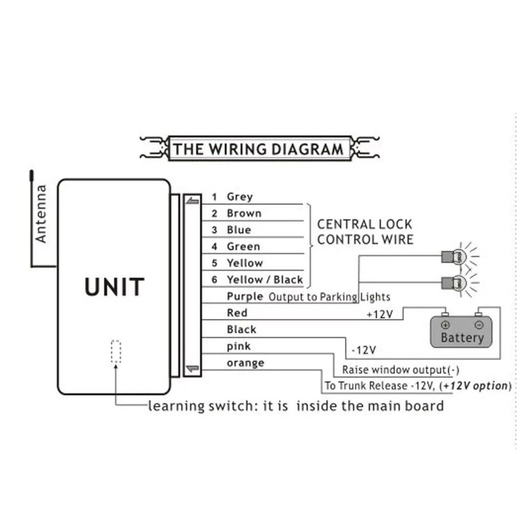 m602 8114 remote control central locking kit for kia car door lock trunk popper wiring diagram [ 1010 x 1010 Pixel ]
