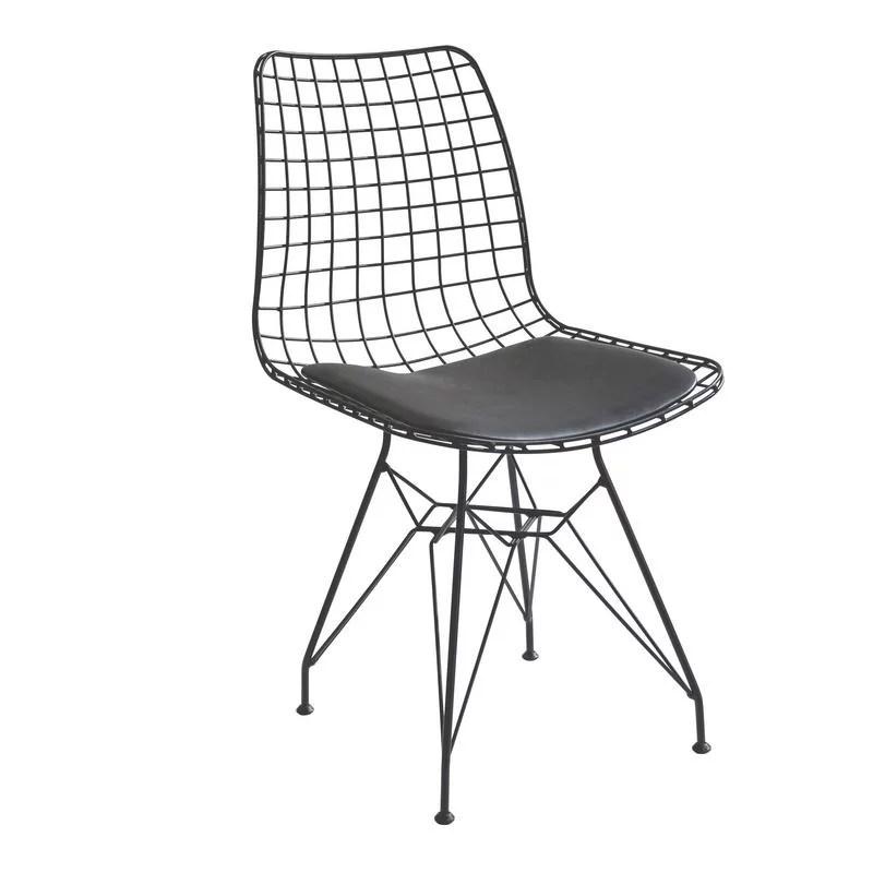 modern metal chairs standard banquet chair covers cilek kids room dark black walmart com