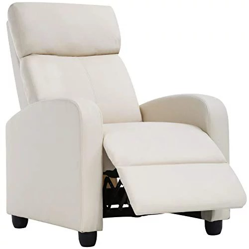 recliner chair for living room recliner sofa reading chair winback single sofa home theater seating modern reclining chair easy lounge with pu leather