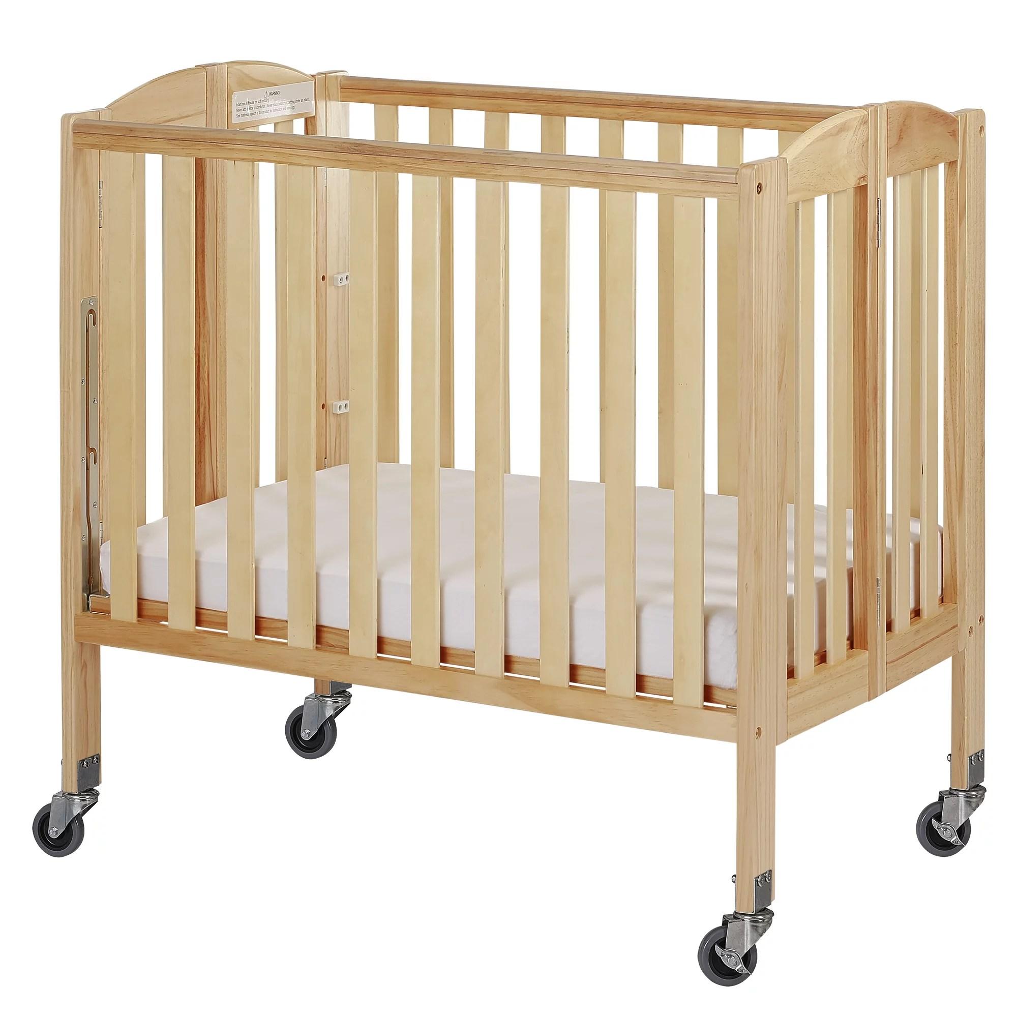 Dream On Me Birch 3-in-1 Folding Portable Mini Crib ...