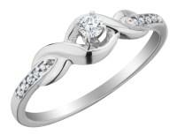 Diamond Infinity Promise Ring 1/6 Carat (ctw) in 10K White ...