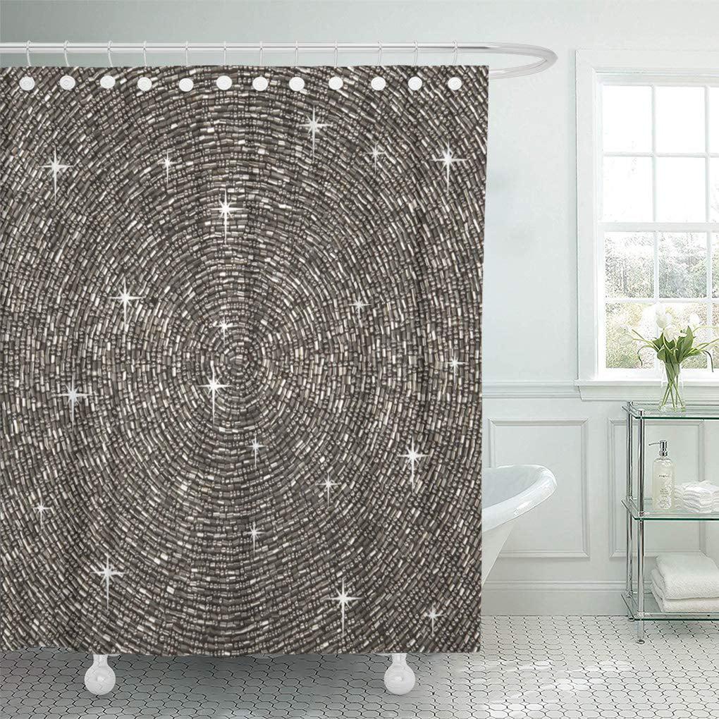 suttom glam silver gray bling diamond glamorous girly chic sparkle shower curtain 60x72 inch walmart com
