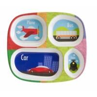 Bulk Buys Melamine Divided Kids Plate-Transportation ...