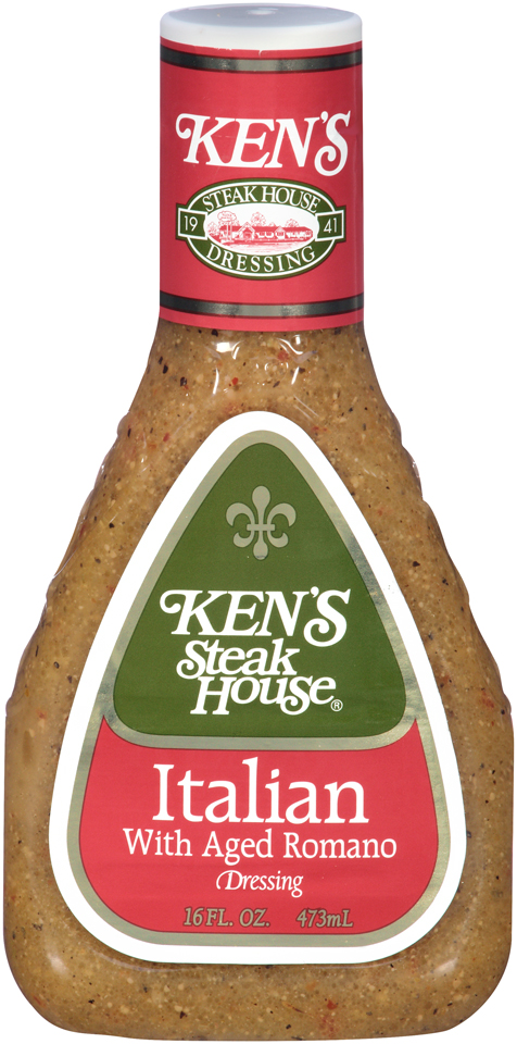 Kens Steakhouse Dressing Italian with Aged Romano 16 Fl