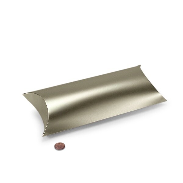 silver pillow boxes 5 x 2 x 8 7 8 quantity 25 by paper mart