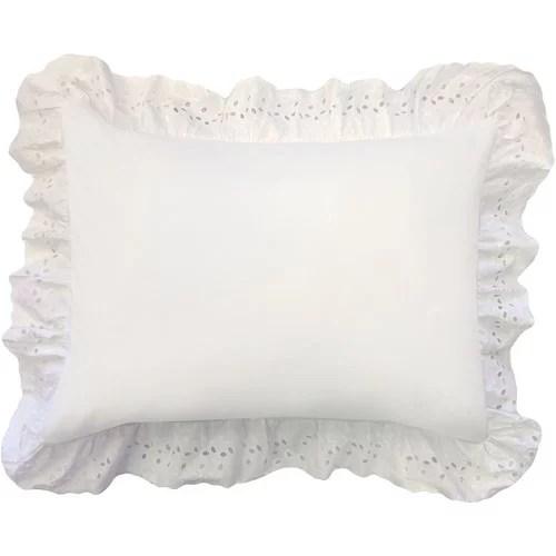 Levinsohn Eyelet Ruffled Pillow Sham  Walmartcom
