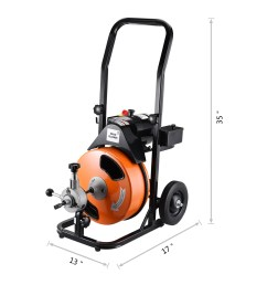 drum power auger 1 2 by 50ft electric drain cleaner snake compact with built in gfci for pipes 2 in diameter to 4 plumbing snake by pentagon tool  [ 2400 x 2400 Pixel ]