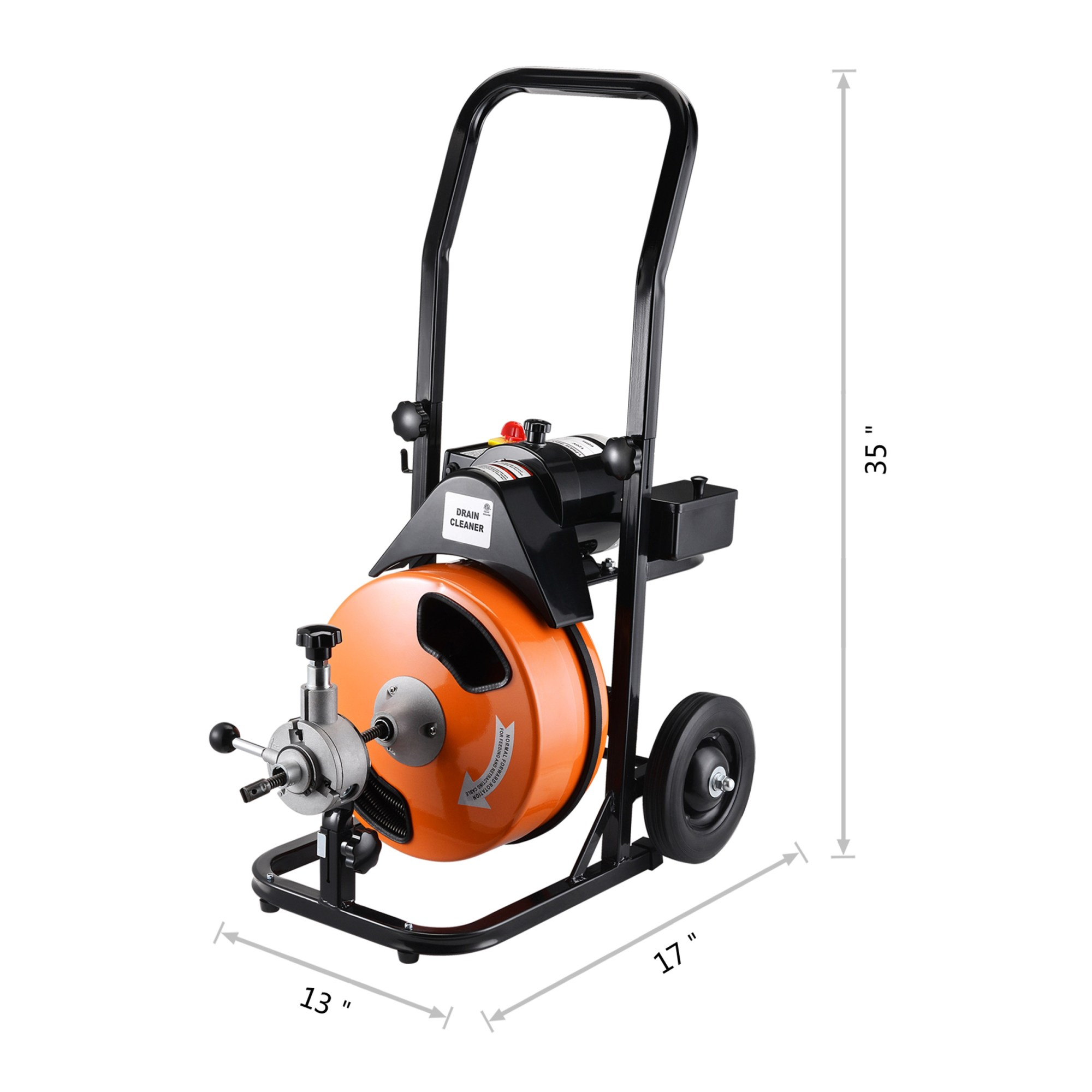 hight resolution of drum power auger 1 2 by 50ft electric drain cleaner snake compact with built in gfci for pipes 2 in diameter to 4 plumbing snake by pentagon tool