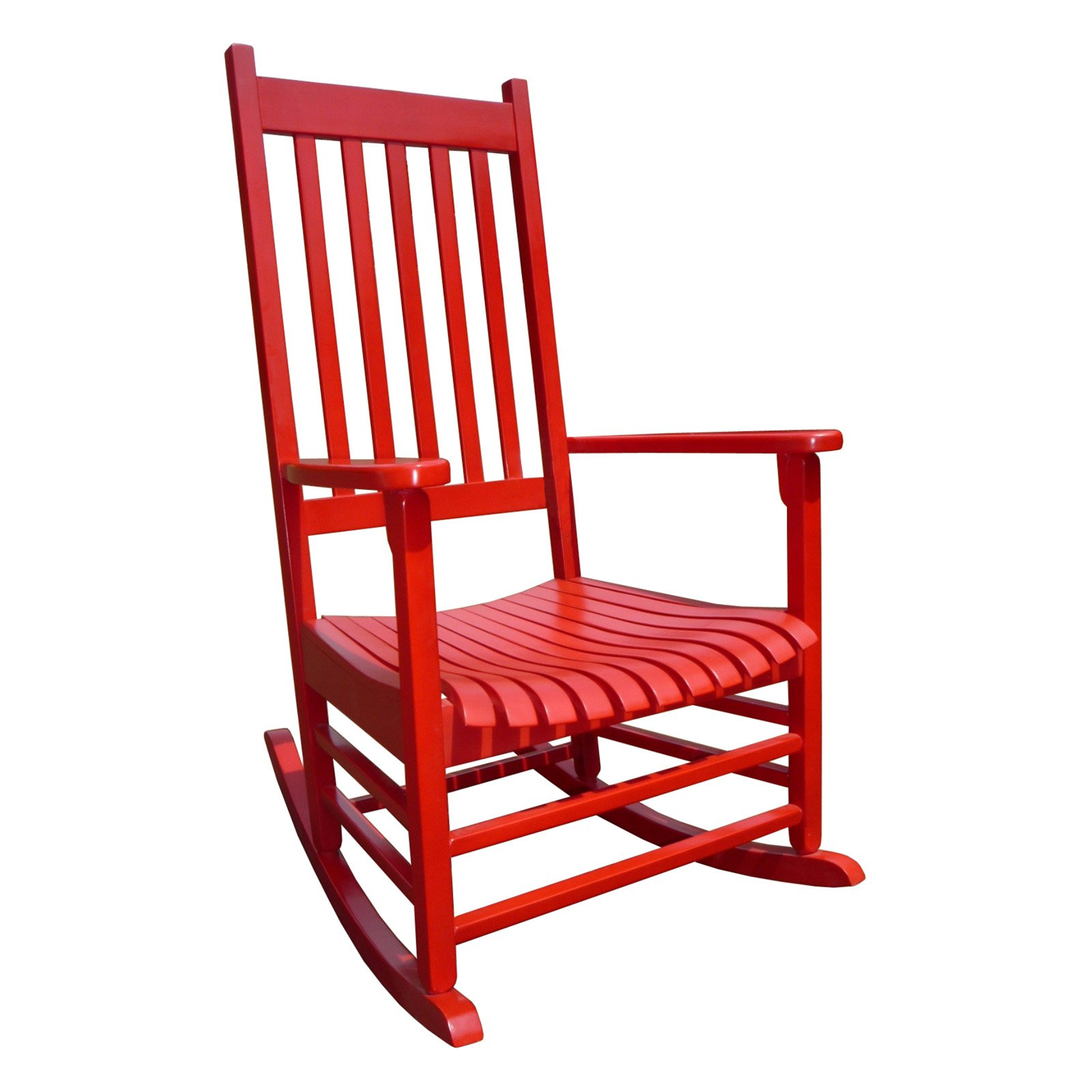 Red Patio Chairs International Concepts Porch Rocker Solid Wood Red