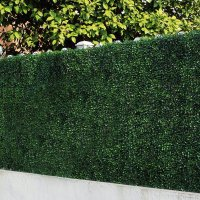 ULAND Artificial Boxwood Hedges Panels, Decorative Privacy ...