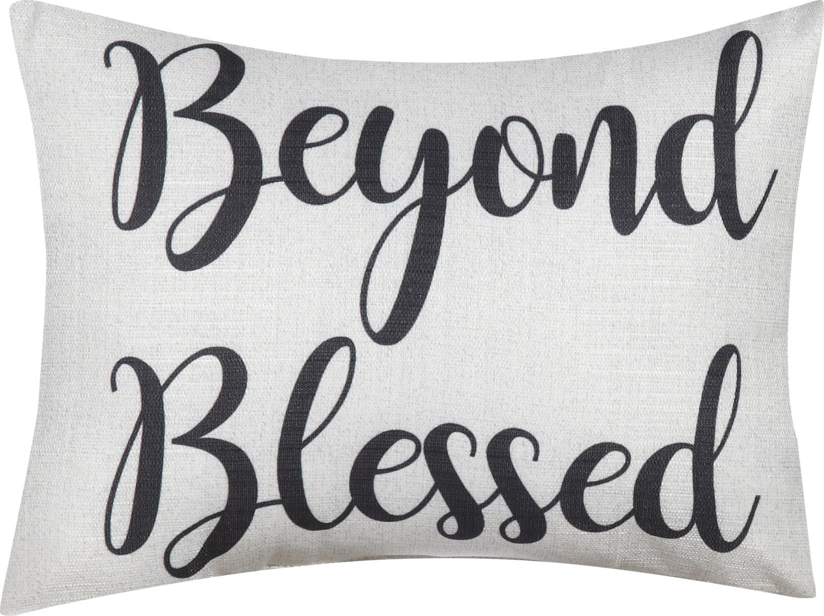 mainstays beyond blessed decorative throw pillow 12 x 16 walmart com