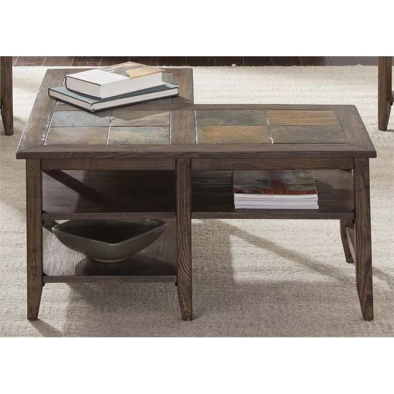 liberty furniture brookstone l shaped coffee table in weathered oak walmart com