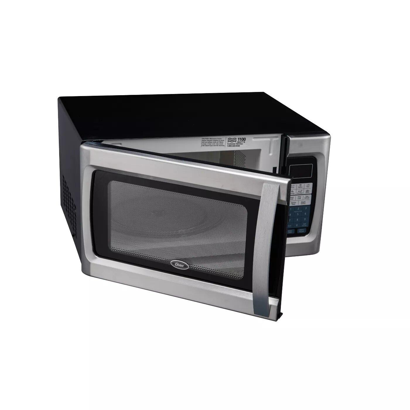 oster 1 3 cu ft 1100w microwave oven black ogzf1301