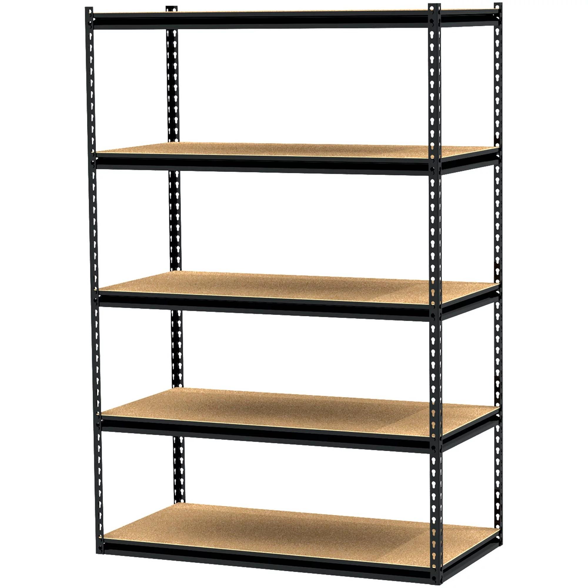 gorilla rack 48 x 24 x 72 5 shelf z beam unit black