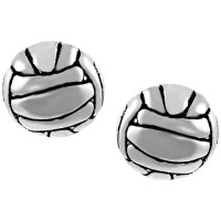Brinley Co. Sterling Silver Volleyball Stud Earrings ...