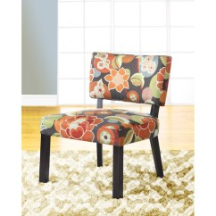 Floral Print Accent Chairs Mid Century Modern Table And Powell Chair Multiple Colors Walmart Com