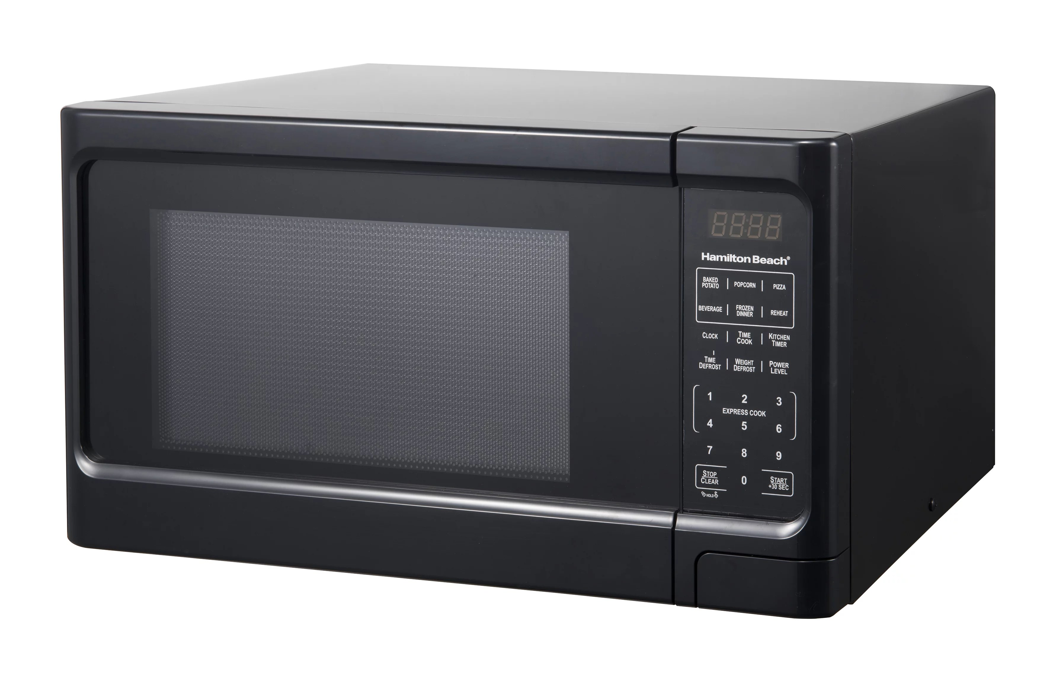 hamilton beach 1 1 cu ft black digital microwave oven