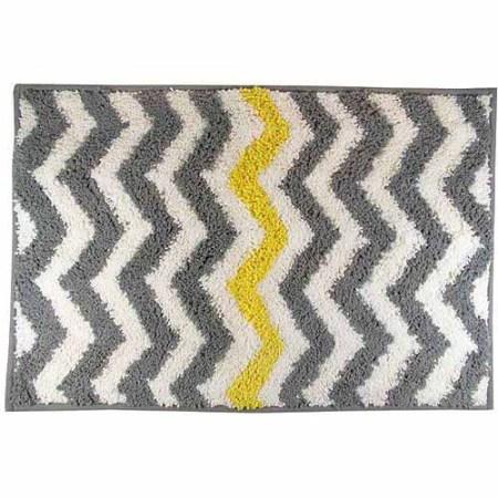 mainstays chevron bath rug, yellow - walmart