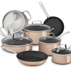 Kitchen Aid Cookware Costco Countertops Kitchenaid Hard Anodized Non Stick 11 Piece Set