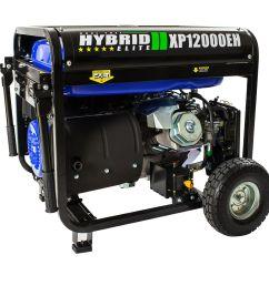 duromax xp12000eh durable 12000 watt 18 hp portable hybrid gas propane generator walmart com [ 1170 x 1170 Pixel ]