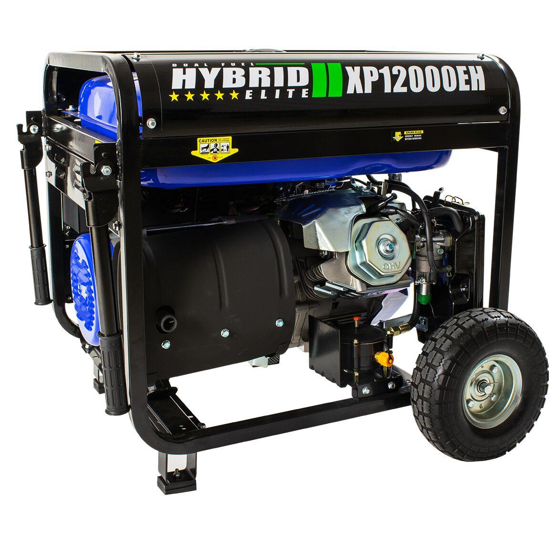 hight resolution of duromax xp12000eh durable 12000 watt 18 hp portable hybrid gas propane generator walmart com