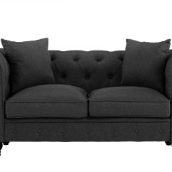 Gray Linen Chesterfield Sofa Set Companies In India Divano Roma Furniture Classic Fabric Scroll Arm