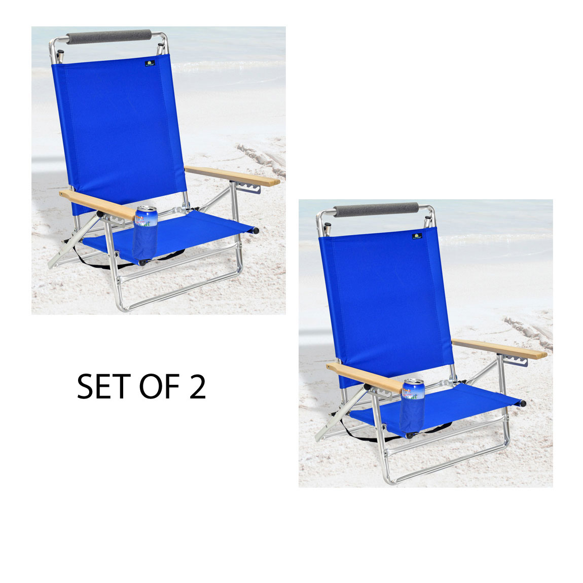 lay flat beach chair desk chairs no wheels deluxe 5 pos aluminum w cup holder
