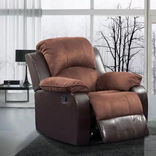 Beverly Furniture Pamela Two Tone Brown Microfiber Faux