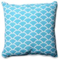 Pillow Perfect Outdoor/ Indoor Sunny Turquoise 23-inch ...