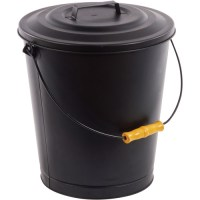 Pleasant Hearth Fireplace Ash Bucket with Lid