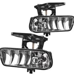 autosaver88 fog lights 899 12v 37 5w halogen lamp for gm095 1999 2002 gmc sierra 2000 2006 gmc yukon pickup truck suv clear lens walmart com [ 1100 x 1100 Pixel ]