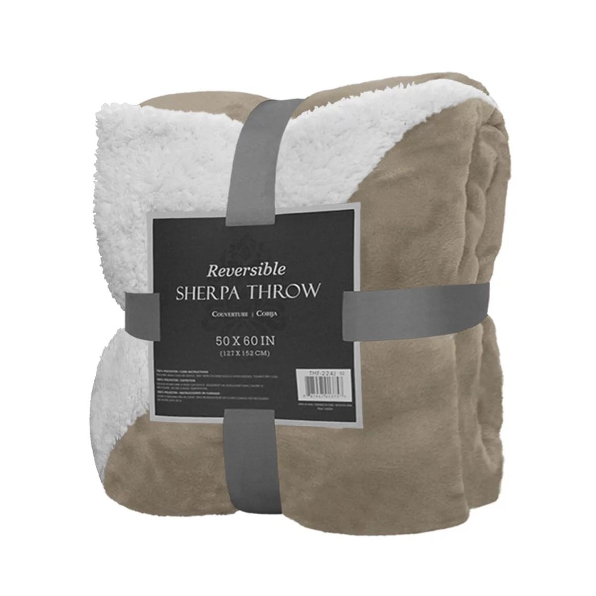 reversible sherpa throw blanket