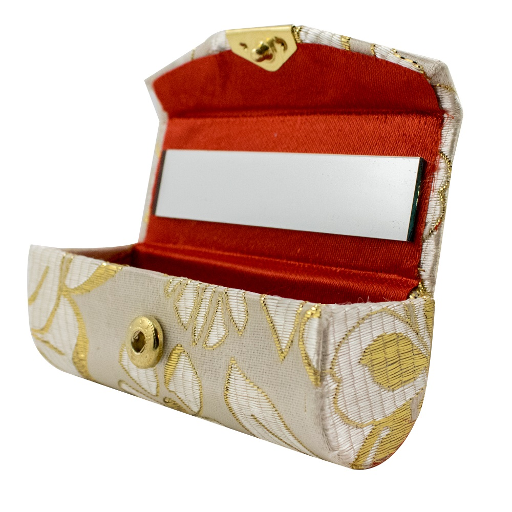Lipstick holder case with mirror slim convenient travel