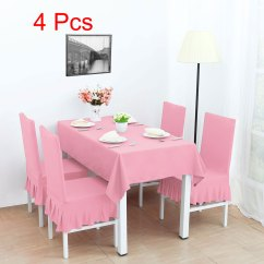 Pink Slipcover Chair Replacement Captains Chairs For Boats Spandex Stretch Washable Dining Cover Protector Walmart Com
