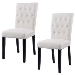 Dining Chairs Walmart One And A Half Chair Recliner Costway Set Of 2 Fabric Armless Home