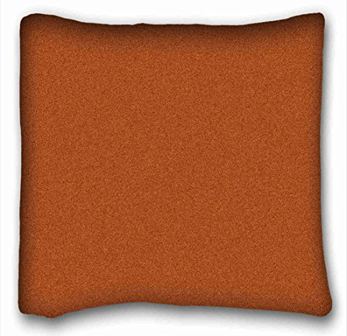 winhome burnt orange throw pillow cover square throw pillow case cases cover cushion covers sofa size 18x18 inches two side