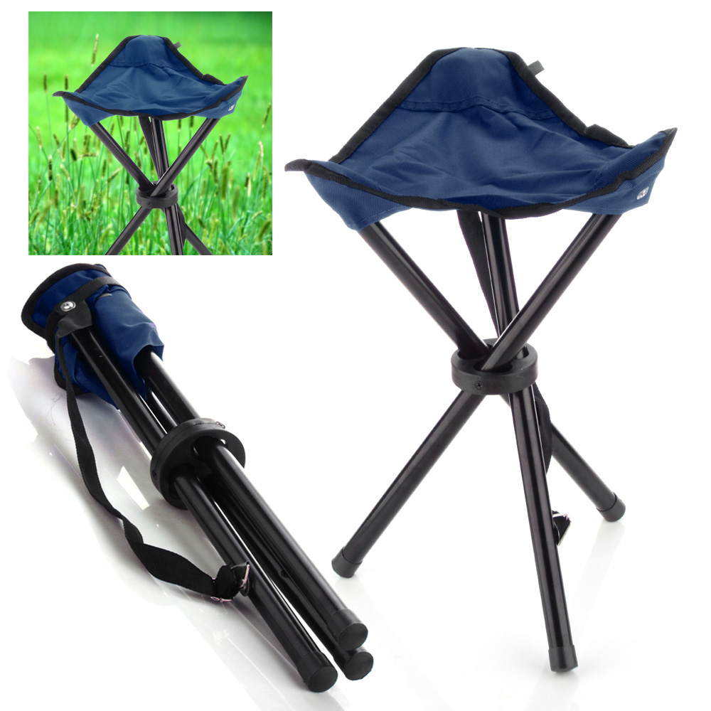 walmart chairs camping joovy portable high chair folding stool (deep blue) 3 legs tripod seat for outdoor hiking fishing ...