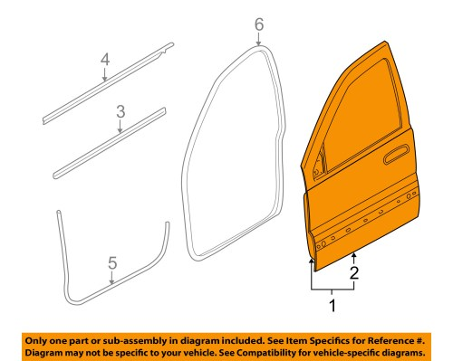small resolution of jeep chrysler oem 06 10 commander front door shell frame panel left 55396543ag walmart com