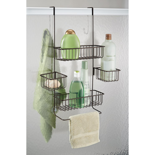 InterDesign Metalo Over Door Shower Caddy Bronze