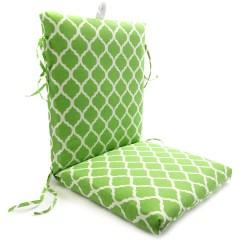 Green Chair Cushions X Back Cushion Mainstays Trellis Walmart Com