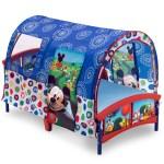 Delta Children Disney Mickey Mouse Plastic Toddler Canopy Bed Blue Walmart Com Walmart Com