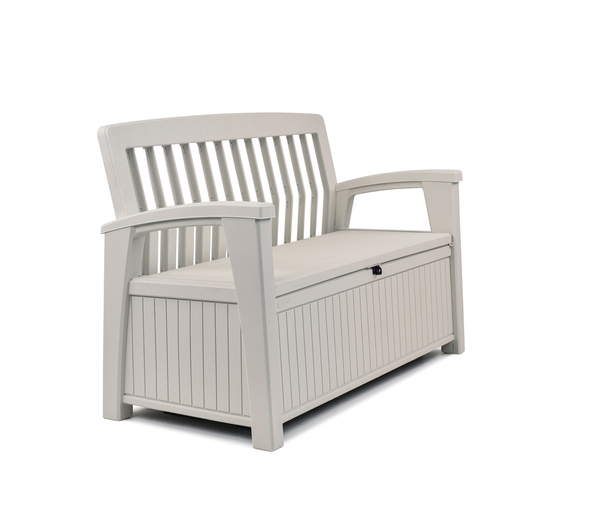 keter 60 gallon storage bench resin outdoor storage furniture seats 2 white