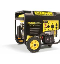 champion 46597 3500 watt rv ready portable generator with wheel kit walmart com [ 1500 x 1500 Pixel ]