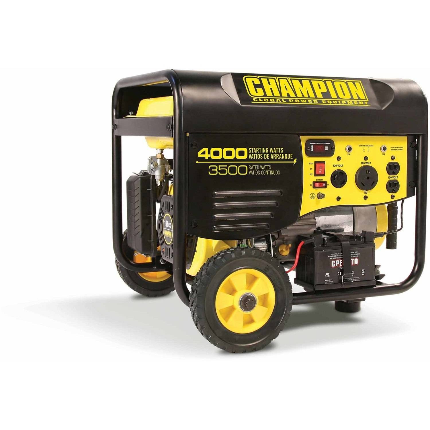 hight resolution of champion 46597 3500 watt rv ready portable generator with wheel kit walmart com