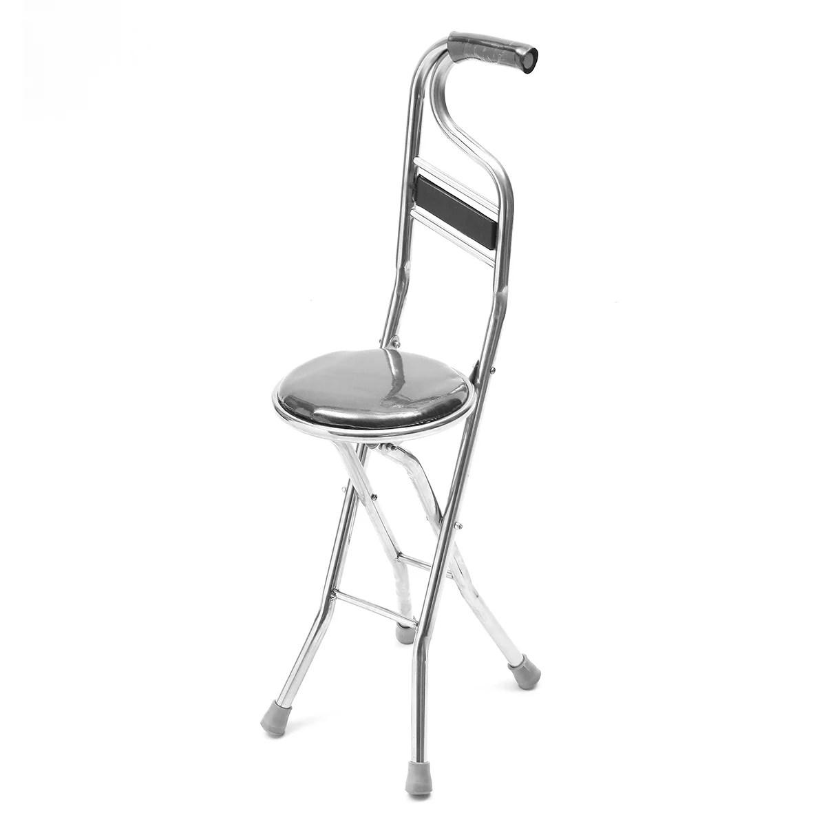 walking stick chair adirondack glider moaere combo folding cane medical lightweight adjustable height stool seat walmart com