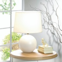 Modern Desk Lamp, Light Modern White Ceramic Bedside Table ...