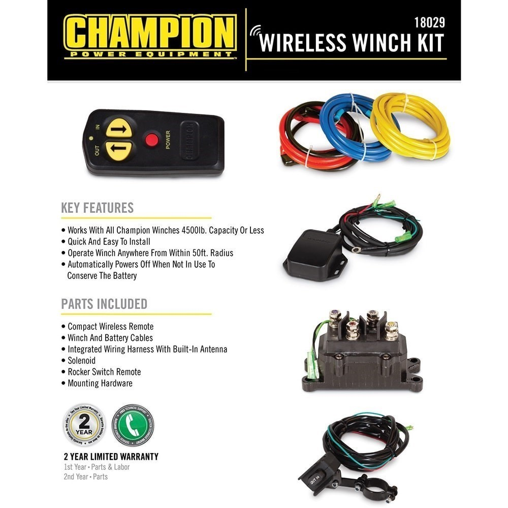 hight resolution of champion 18029 wireless winch remote control kit for 5000 lb or less atv utv winches walmart com