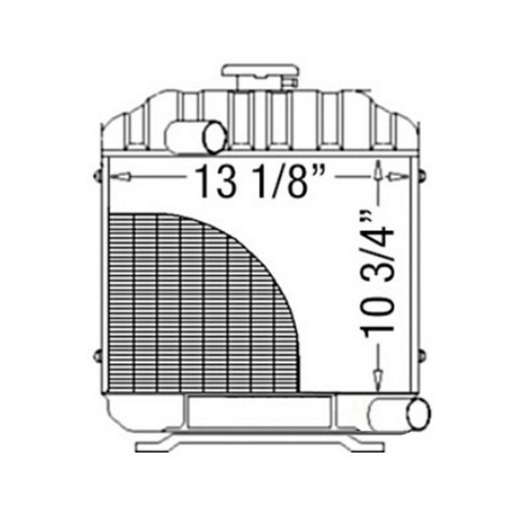 15553-72060 New Aftermarket Radiator Fits Kubota Compact