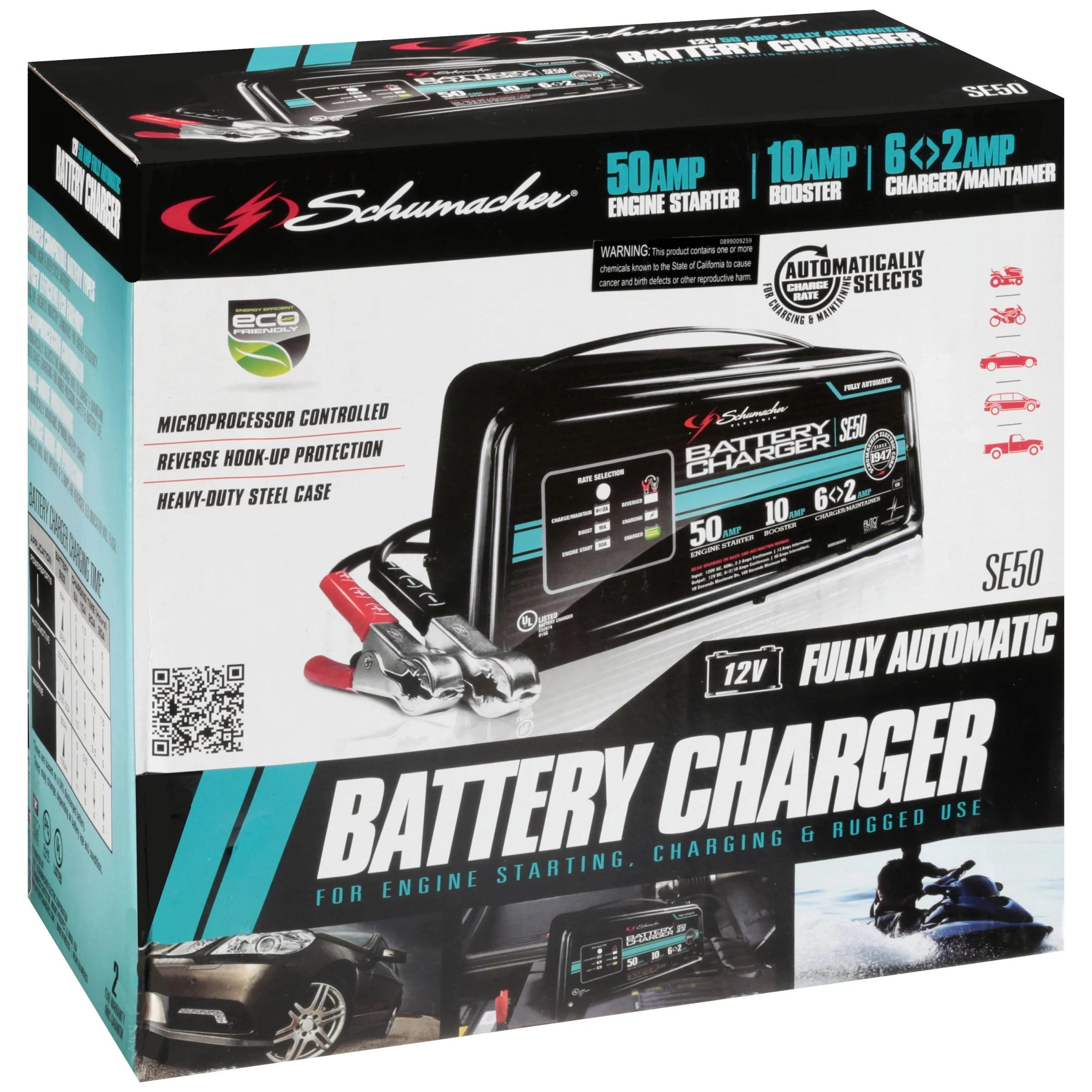 medium resolution of schumacher se50 12v fully automatic battery charger walmart comschumacher se50 12v fully automatic battery