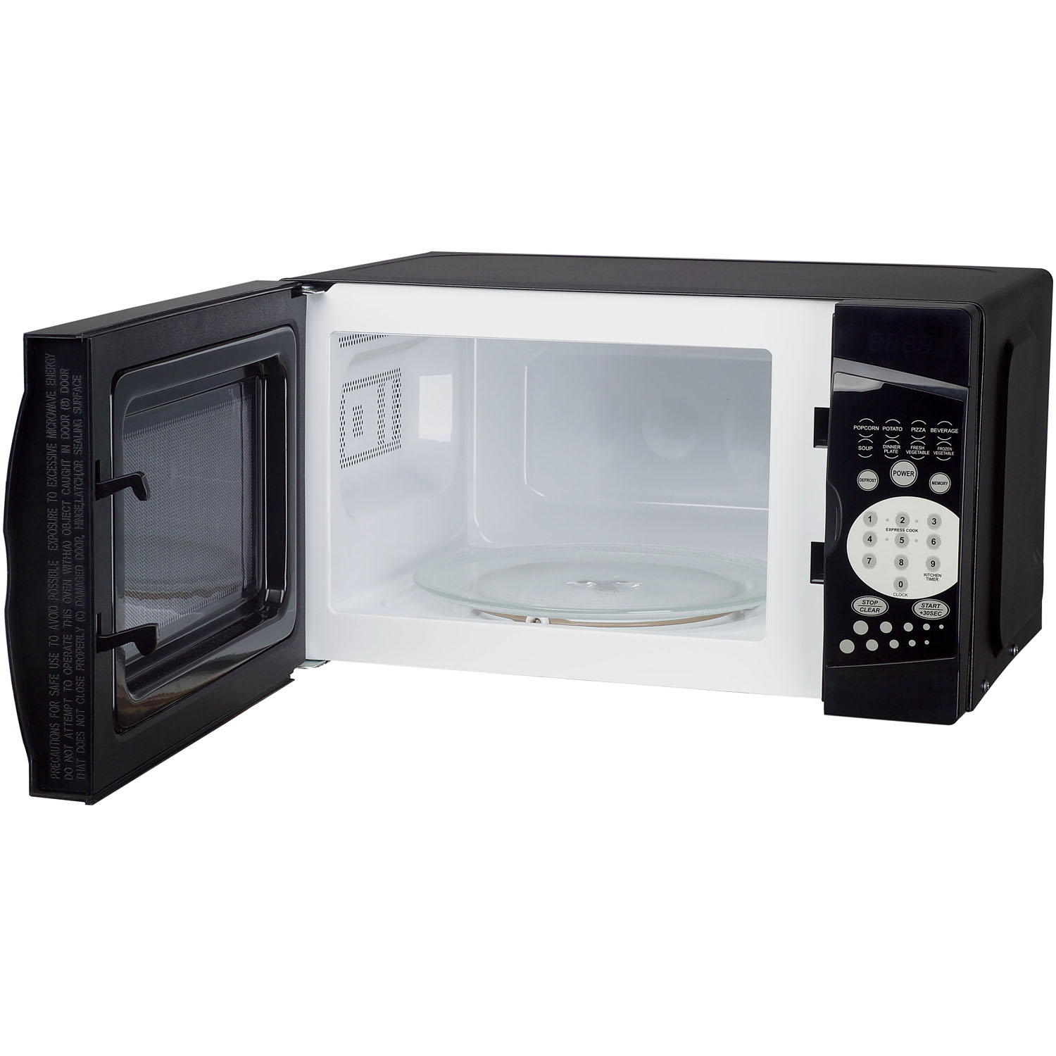 magic chef 0 7 cu ft 700w countertop microwave oven in black
